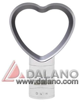 تصویر پنکه رومیزی بی پروانه مدل قلب Bladeless fan