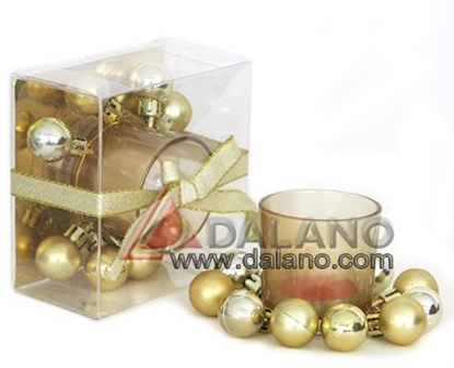 تصویر جاشمعی تزیینی طلایی Golden Lamp candlestick
