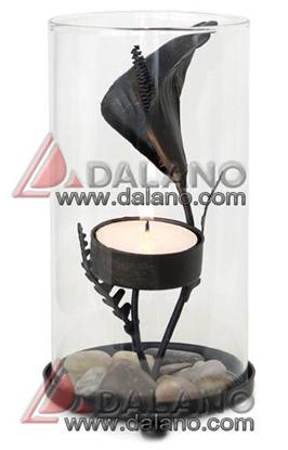 تصویر جاشمعی فانوسی با طرح گل Araceae flower candlestick